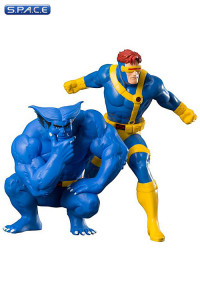 1/10 Scale Cyclops & Beast ARTFX+ Statues 2-Pack (Marvel)