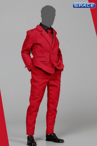 1/6 Scale Slim Suit Set red