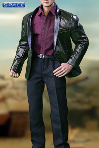 1/6 Scale green Leather Suit Set