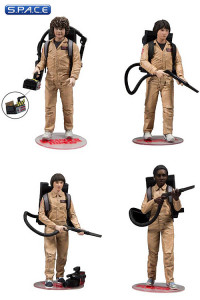 Mike, Will, Lucas & Dustin in Ghostbusters Suits 4-Pack (Stranger Things)
