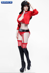 1/6 Scale Space Officer Clothing Set red