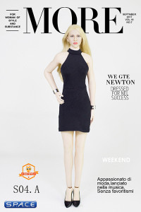 1/6 Scale Lady Dress Set black