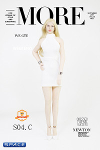 1/6 Scale Lady Dress Set white