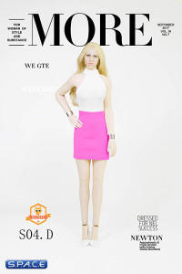 1/6 Scale Lady Dress Set white/pink