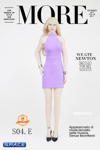 1/6 Scale Lady Dress Set lavender