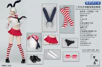 1/6 Scale Sailor Bunny Suit Set red