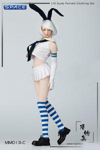 1/6 Scale Sailor Bunny Suit Set white