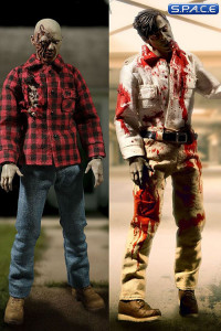 1/12 Scale Flyboy & Plaid Shirt Zombie from Dawn of the Dead 2-Pack (One:12 Collective)