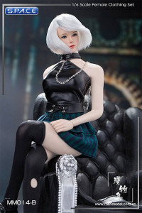 1/6 Scale Punk Girl Set with blue skirt