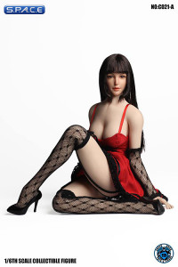 1/6 Scale red Dress with Stockings Set