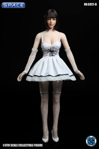 1/6 Scale white Dress with Stockings Set