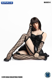 1/6 Scale black Dress with Stockings Set