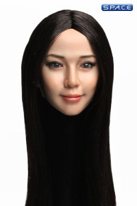 1/6 Scale Reika Head Sculpt (long black hair)