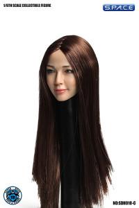 1/6 Scale Reika Head Sculpt (long brown hair)