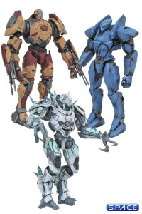 Complete Set of 3: Pacific Rim: Uprising Select Series 3 (Pacific Rim: Uprising)