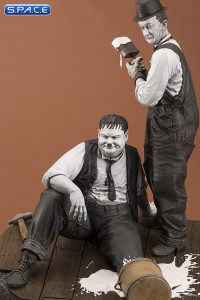 Stan Laurel & Oliver Hardy Old & Rare Statue (Another nice mess)