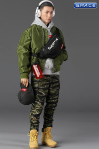 1/6 Scale Men's Street Style Flight Jacket Set