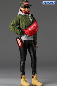 1/6 Scale Women's Street Style Flight Jacket Set