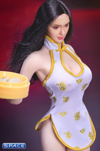 1/6 Scale white Cheongsam Waitress Dress Set