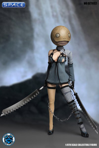 1/6 Scale blue Robot Girl Cosplay Set 2.0