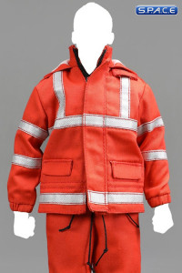 1/6 Scale red fluorescence working Suit Set
