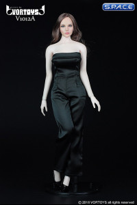 1/6 Scale black Female conjoined Skirt with High Heels