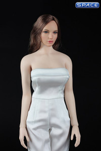 1/6 Scale white Female conjoined Skirt with High Heels