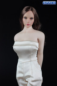 1/6 Scale beige Female conjoined Skirt with High Heels