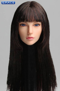 1/6 Scale Cynthia Head Sculpt (dark brown Hair)