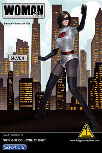 1/6 Scale silver Woman Hero Set