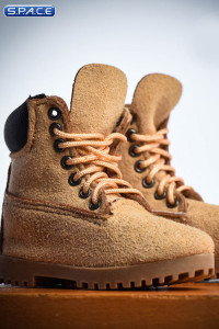 1/6 Scale beige suede-optics male Boots