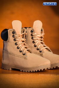 1/6 Scale beige male Boots