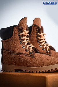1/6 Scale brown suede-optics male Boots