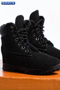 1/6 Scale black suede-optics male Boots