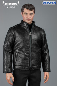 1/6 Scale black Spy Killer Leather Jacket Set