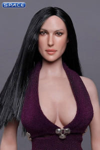 1/6 Scale Melanie Head Sculpt (long black hair)