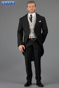 1/6 Scale black Gentleman Cutaway Set