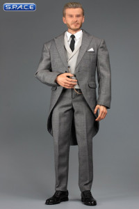 1/6 Scale light grey Gentleman Cutaway Set