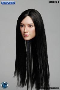 1/6 Scale Amaya Head Sculpt (long black hair)