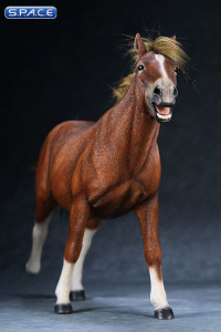 1/6 Scale sorrel walking Mongolica Horse