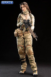 1/6 Scale A-TACS FG Women Soldier - Jenner with brown hair