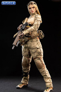 1/6 Scale A-TACS FG Women Soldier - Jenner with blonde hair