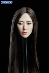 1/6 Scale Kaiwen Head Sculpt (long straight brunette hair)
