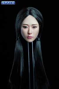 1/6 Scale Kaiwen Head Sculpt (black hair with pigtails)