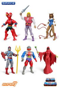 Complete Set of 6: MOTU Club Grayskull Figures Wave 4 (He-Man and the Masters of the Universe)