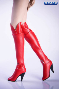 1/6 Scale over-the-knee boots (red)