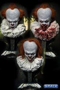 1/2 Scale 2017 Pennywise High Defintion Bust Set (Stephen King's It)