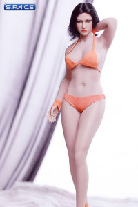 1/6 Scale female super-flexible seamless pale Body with medium breast