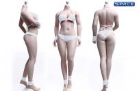 1/6 Scale female super-flexible seamless suntan Body with medium breast