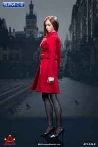 1/6 Scale red female Trench Coat Set